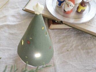【信楽焼】星が輝くクリスマスツリー 陶器 伝統工芸  置物 限定 プレゼントの画像