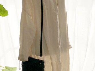 『grey poodle』 noriko tweed サコッシュ 手織りの画像