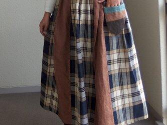チェックのスカート ●80センチ丈●  の画像