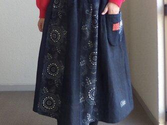 型染めスカート ●78センチ丈●の画像