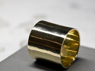 鏡面 真鍮フラットリング 18.0mm幅 ミラー|BRASS RING|378の画像