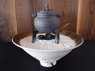 珊瑚砂テーブル火鉢セット1の画像