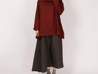 14番手綾織りアフガンネックプルオーバー(レンガ)の画像