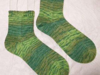 手編み靴下 opal Lucky 9482の画像