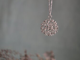 Silver necklace 「Morning crystals」の画像