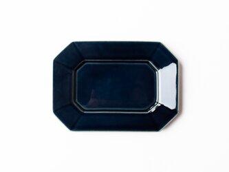 八角プレート M 紺 (瑠璃釉) の画像