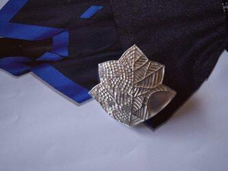 ブローチ(銀彩) 木の葉-6の画像