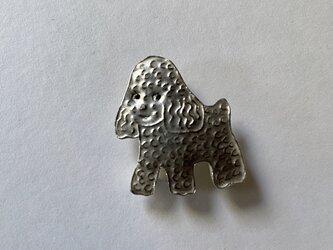 ブローチ (銀彩) イヌ-5の画像