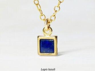 【12月誕生石】上品な瑠璃色。ラピスラズリのネックレス [送料無料]の画像