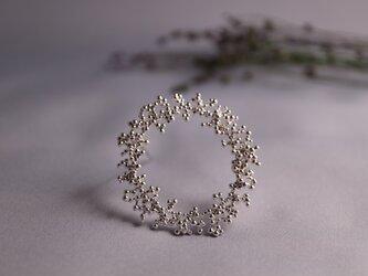 ○受注制作○Silver brooch 「Winter wreath」の画像