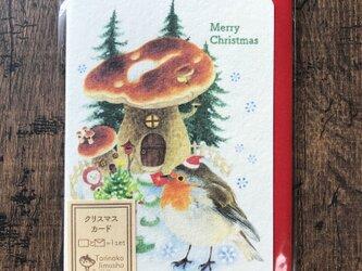 クリスマスカード『ロビンとキノコ』の画像