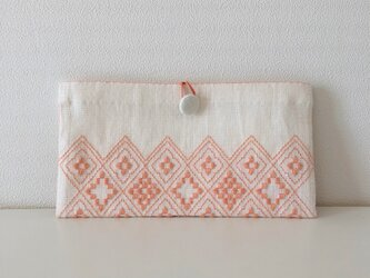 Button Pouch *** salmon  pinkの画像