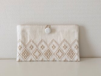 Button Pouch-small *** beigeの画像