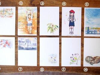 季節のポストカードセット 3枚組の画像