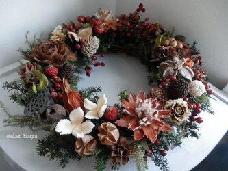 atelierBLUGRA八ヶ岳〜秋を集めた木の実のWreathの画像