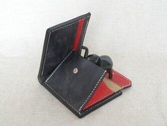 二つ折り財布《 BlueBlack & Red 》の画像