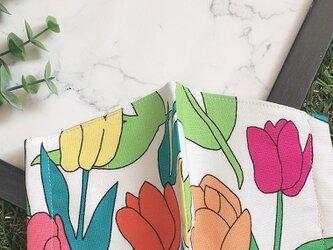 秋冬マスク 立体マスク キッズ オトナ チューリップ 花の画像