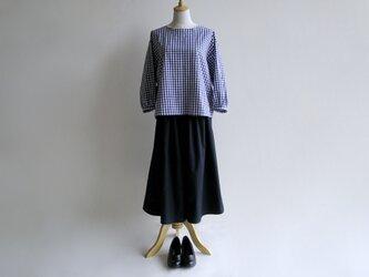 基本の紺色キュロットスカート(国産タイプライタークロス)送料無料の画像