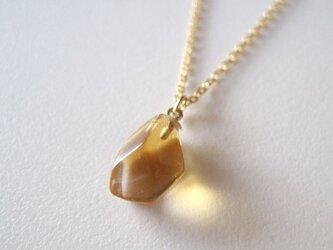 シトリンのネックレス14kgf honeyの画像