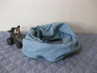 ダブルガーゼスヌード《クラウドブルー・一重》の画像