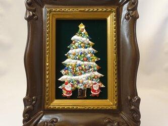 [限定一点物!]クリスマスツリーの七宝焼飾り額 2020B  ※ご購入の前に一度お問い合わせくださいの画像
