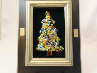 [限定一点物!]クリスマスツリーの七宝焼飾り額 2020C  ※ご購入の前に一度お問い合わせくださいの画像