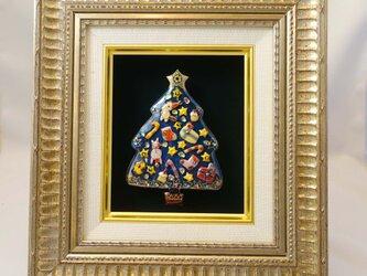 [限定一点物!]クリスマスツリーの七宝焼飾り額 2020D  ※ご購入の前に一度お問い合わせくださいの画像