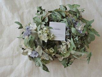 秋色紫陽花とユーカリのwreath.snの画像