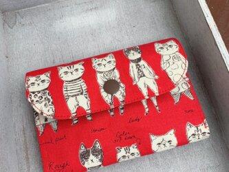 ■軽いミニ財布⭐︎おしゃれなネコ柄・ねこ・猫の画像