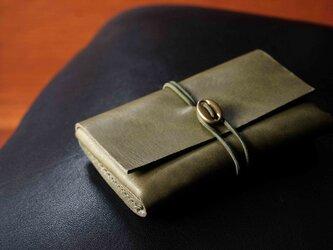 イタリアンレザー「cartao」カードケース#green【送料無料】の画像