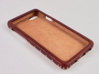 Leather handmade case  /  iPhone SE:【カラー】マホガニーの画像