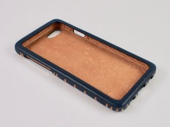 Leather handmade case  /  iPhone SE:【カラー】ネイビーの画像