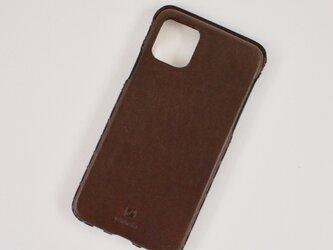 Leather handmade case  /  iPhone 11シリーズ:【カラー】ダークブラウンの画像