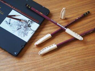 おうちでレザークラフト / 体験キット【革の鉛筆キャップ・4個セット】の画像