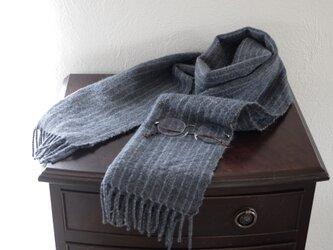 手紡ぎ手織りマフラー ゴッドランドの画像
