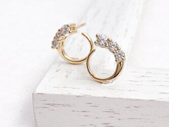 Moon cz pierce/earringの画像
