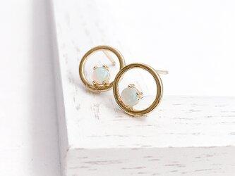 Opal circle pierce/earringの画像