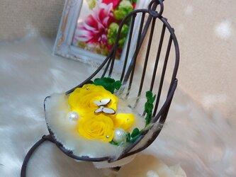 アイアン~ハンギングチェアのお花の画像
