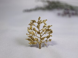 ○受注制作○Brass brooch「Grove」の画像