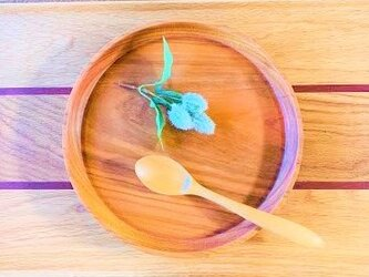 【新製品】カレーが美味しい楓の丸皿 山桜の木 大平皿 0051の画像