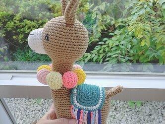 あみぐるみ ろば 編みぐるみ プレゼント ハンドメイド 男の子 出産祝い 女の子 お部屋飾り 手編みの画像