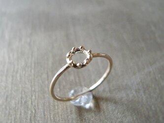 泡輪リング K10 イエローゴールド 10金 指輪 K10YGの画像