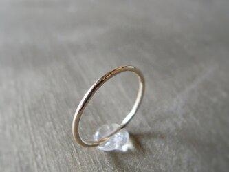 シンプルな10金リング K10 イエローゴールド 10金 指輪 K10YGの画像