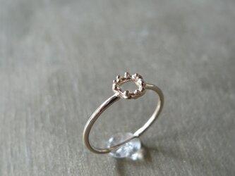 泡輪リング K14 ピンクゴールド 14金ピンクゴールド 指輪の画像