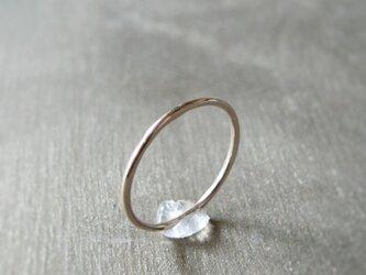 シンプルなリング K14 ピンクゴールド 14金ピンクゴールド 指輪の画像