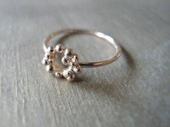 つぶ輪リング K14 ピンクゴールド 14金ピンクゴールド 指輪の画像