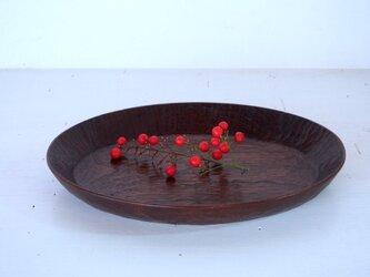 ブラックウォルナットオーバル皿の画像
