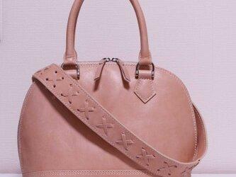 シェル型バッグ/ピンクベージュの画像