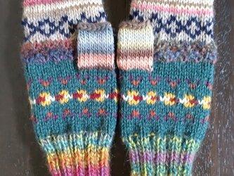 手編み手袋 #7の画像