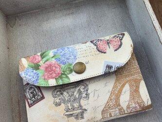 ■軽い!ミニ財布⭐︎USAコットン・ボタニカル・エッフェル塔・蝶々・バラの画像